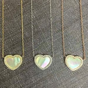 Mother-of-Pearl Heart Necklace, NWT